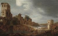 a river landscape by gerrit claesz bleker