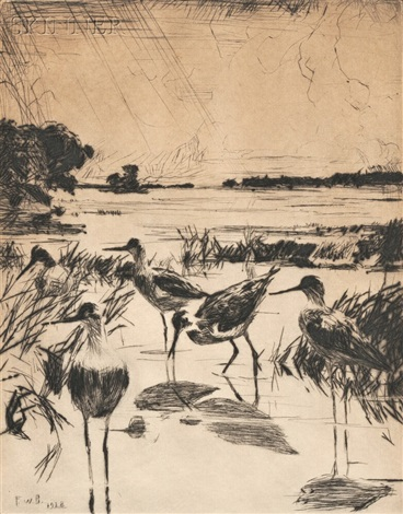 yellowlegs in sunlight by frank weston benson