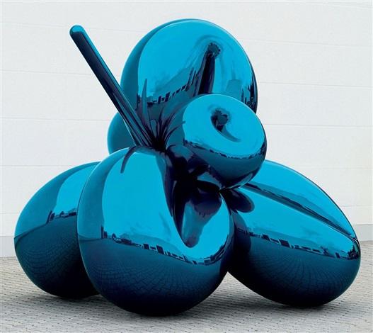 balloon flower (blue) by jeff koons
