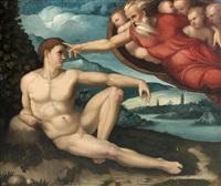 la création d'adam by perino del vaga
