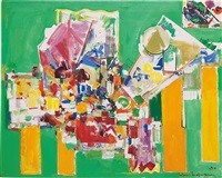 orchestral dominance in green by hans hofmann