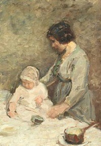 mother and child by julius paulsen