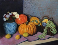 still life with pumpkins by artem melik azaryants
