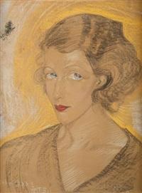 portret kobiecy by stanislaw ignacy witkiewicz