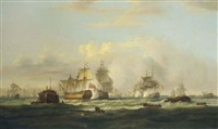 the height of the action on the glorious first of june by thomas luny