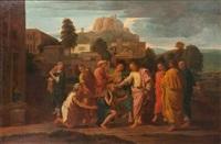 le christ guérissant les aveugles by nicolas poussin