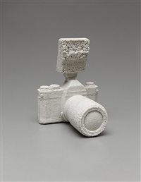 pentax k100 reformed in ceramics by daniel arsham