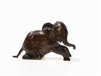 kneeling elephant by renée sintenis