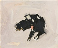 creepo (the dog) by fairfield porter