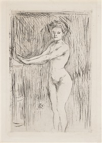 model warming her hands by edvard munch