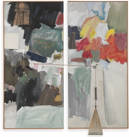 studio painting in 2 parts by robert rauschenberg