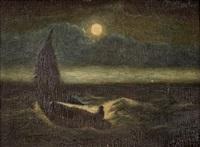 moonlit boat scene by albert pinkham ryder