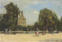 les tuileries et le pavillon de flore by stanislas lépine