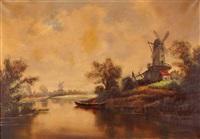 holländische landschaft by josef (kamenitzky) steiner