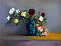 still life with roses by artem melik azaryants
