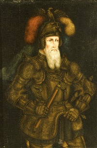 a portrait of a nobleman in armour by franz wolfgang rohrich