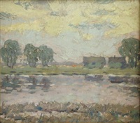 riverside landscape by jekabs apinis