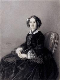portrait de femme assise by hermann behmer