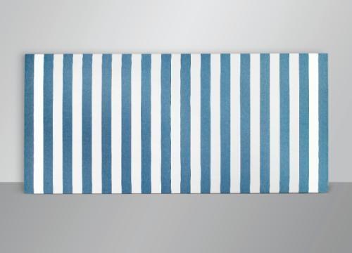 peinture acrylique blanche sur tissu ray blanc et bleu von daniel buren auf artnet. Black Bedroom Furniture Sets. Home Design Ideas