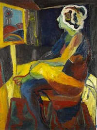 untitled (seated woman) by norman stiegelmeyer