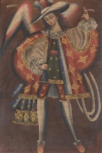 archangel gabriel by peruvian school-cuzco