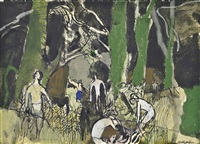 soldiers in a wood by keith vaughan