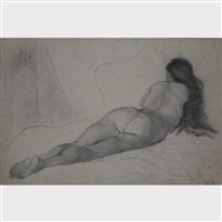nude in repose by william brymner
