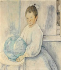dama con velo y niña by alberto trabucco