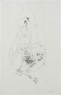l'histoire de l'oeil, dessin preparatoire pour la gravure n°5 by hans bellmer