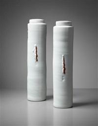 pair of lidded vessels by edmund de waal