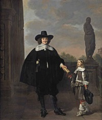 portrait of frederick van velthuysen (d. 1658) and his son dirck (1651-1716), by thomas de keyser