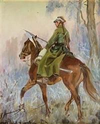 ułan na koniu by woiciech (aldabert) ritter von kossak