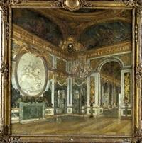 vue du salon de la guerre au château de versailles by maurice lobre