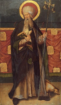 saint antoine abbé by hans (suess von) kulmbach