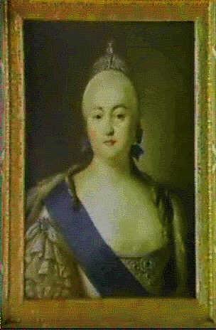 portraet af elisabeth petrovna 1709 1782 kejserinde af rusland 1741 1762 datter af peter den store og katharina i by virgilius erichsen