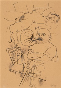 athlet, pl. 82 (from ecce homo) by george grosz