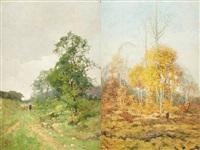 chemins à genck (2 works) by léon g. lebon