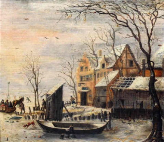 paysage d'hiver by barent avercamp