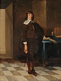 portrait d'homme dans un intérieur by dirck dircksz van santvoort
