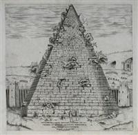 sepoltura di c. cestio appresso la porta di san paolo by nicolaus van aelst