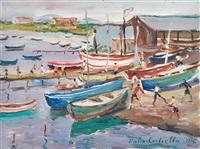 barche a bacoli by mario cortiello