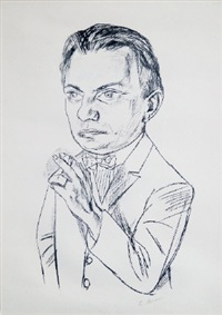 portrait of dr. heinrich simon by max beckmann