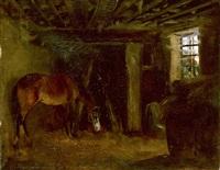 cheval à l'écurie by théodore géricault