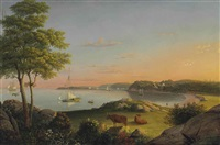 gloucester, stage fort beach by fitz henry lane