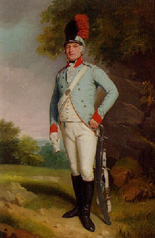 portrait of john 5th baron farnham pc colonel of the cavan militia by samuel de wilde