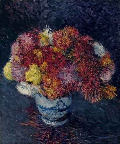 bouquet de chrysanthèmes by gustave caillebotte