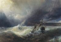 bateaux dans la tempête by baron jean antoine théodore gudin