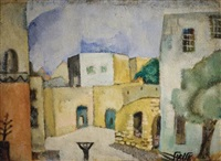 village landscape in the galilee by arieh allweil