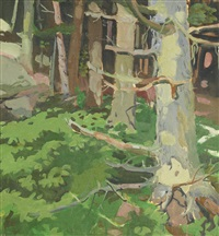 woods and rocks by fairfield porter
