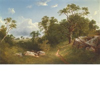 landscape (white mansion in the distance) by david johnson